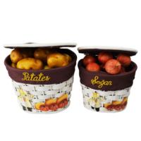 Hasır Oval 2 Li Patates Soğan Sepeti-Beyaz COSKHR011OVBYZ