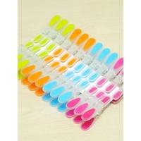 Renkli 24 adet silikon mandal