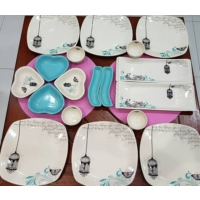 Keramika Retro Kahvaltı Set