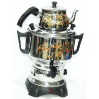 Pegasus Elektrikli Desenli Semaver - Çay Makinasi - Çaycı 4,5 Lt