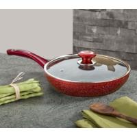 661 Ezme Granit Maxi Kapaklı Tava -Kırmızı