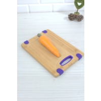 Loveq Diktörtgen Silikon Kenarlı Bambu Kesme Tahtası