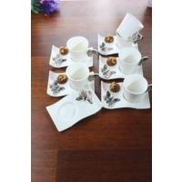 Loveq Porselen Kelebek 6'Lı Kahve Takımı Thm-Hhp-3041-S
