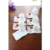 Loveq Porselen Kelebek 6'Lı Kahve Takımı Thm-Hhp-3041-P