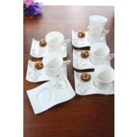 Loveq Porselen Kelebek 6'Lı Kahve Takımı Thm-Hhp-3041-A