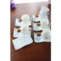 Loveq Porselen Kelebek 6'Lı Kahve Takımı Thm-Hhp-3041-M