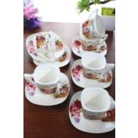 Loveq Porselen 6'Lı Kahve Takımı Thm-Hhp-3013-R