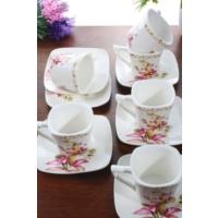 Loveq Porselen 6'Lı Kahve Takımı Thm-Hhp-3012-P