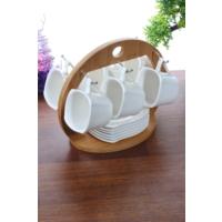 Loveq Porselen Standlı Kahve Takımı Thm-Hhp-3113