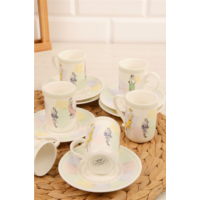 Loveq Porselen Fashion 6Lı Kahve Fincan Seti