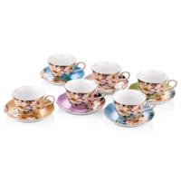 Cemile Güllü Karışık Renkli 6lı Çay Fincanı (6)