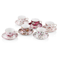 Cemile Minik Çiçekli 6lı Çay Fincanı (6)