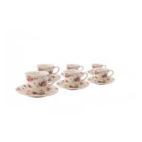 Karaca 12 Parça Kahve Takımı Beyaz 01130-2-6S
