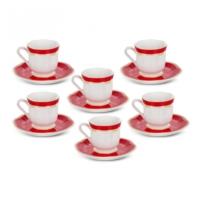 Karaca Hanzade Kırmızı Kahve Fincan Takımı Ka-003