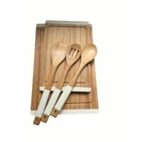 N2328 Sweet Bambu Krem Mutfak Set
