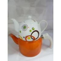Sima Porselen Demlikli Emaye Çaydanlık (2)