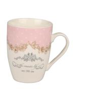 Setabıanca Bone China Kupa Vintage Pink 350Ml