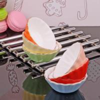Royal Windsor Bone China Porselen Renkli 6'lı Yuvarlak Çerezlik