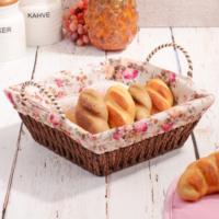 Royal Windsor Lüks Kare Hasır Ekmek Sepeti