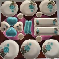 Keramika 6 Kişilik Gül Trend Kahvaltı Takımı