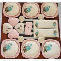 Keramika 6 Kişilik Pembe Gül Trend Kahvaltı Takımı