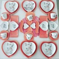 Keramika 36 Prç Pink Love Kahvaltı Takımı