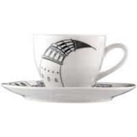 Bonna Po-60 Şerefe İstanbul Serisi 6 Parça Porselen Kahve Fincan Takımı