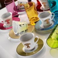 Kütahya Porselen Estel 18 Parça 6593 Desen Kahve Fincan Takımı