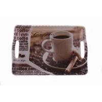 Danieli Kahve Motifli Melamin Tepsi 44 X 30,5 Cm