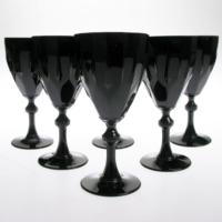 JOY GLASS 6 lı Siyah Diamond Kadeh