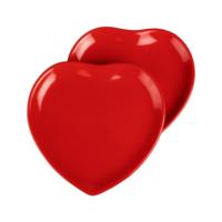 JOY GLASS 2 li Şeker Peker Kalp Servis Tabağı