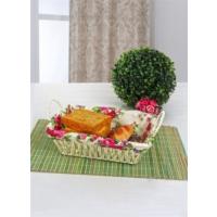 Keramika 1 Adet Hasır Ekmeklik Renkli Çiçekler
