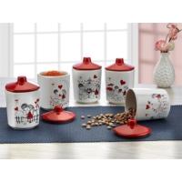 Keramika 10 Parça Köşem Baharat Takımı 10 Cm Kera Mira