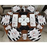 Keramika 38 Parça 6 Kişilik Peri Masalı Kahvaltı Takımı