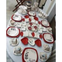 Keramika 84 Parça 6 Kişilik Retro Kahvaltı Takımı