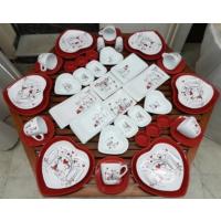 Keramika 46 Parça 6 Kişilik Peri Masalı Kahvaltı Takımı