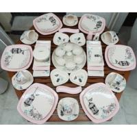 Keramika 48 Parça 6 Kişilik Retro Kahvaltı Takımı