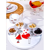 Keramika Set Hitit Kahvaltı 9 Parça Beyaz 004 Keramika Dolu Kalp