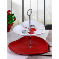 Keramika Set Meyvelik Kalp 2 Katlı Beyaz 004-Kırmızı 506 Keramika Dolu Kalp