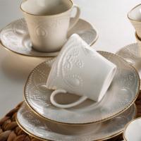Kütahya Porselen Fulya Krem 6 Kişilik Çay Fincan Takımı