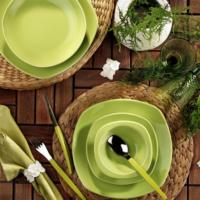 Naturaceram Prizma 24 Parça Yeşil Yemek Seti
