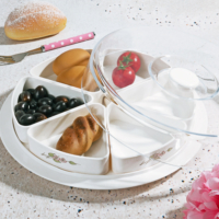 Royal Windsor Melamin 6 Bölmeli Kapaklı Kahvaltılık