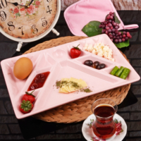 Royal Windsor Seramik 10 Bölmeli Kahvaltı Tabağı