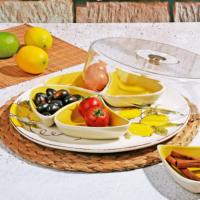 Royal Windsor Seramik Limon Desenli 5 Bölmeli Kahvaltılık