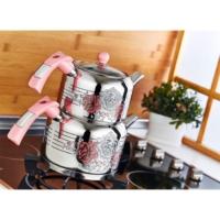 Evimsaray Rose Dekorlu Çaydanlık Takımı Mini