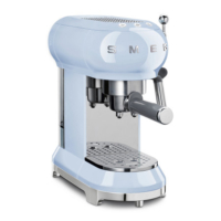 Smeg ECF01PBEU Kahve Makinesi Pastel Mavi