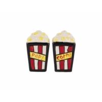 Tantitoni Seramik Popcorn Kutusu Şekilli Tuzluk Biberlik Seti