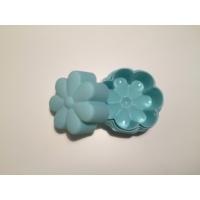 d-sign home 6'lı Çiçek Mini Kek Kalıbı -Turkuaz
