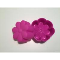 d-sign home 6'lı Çiçek Mini Kek Kalıbı - Fuşya