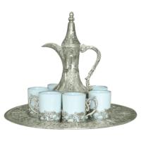 LoveQ Gümüş Zemzem Takımı Porselen